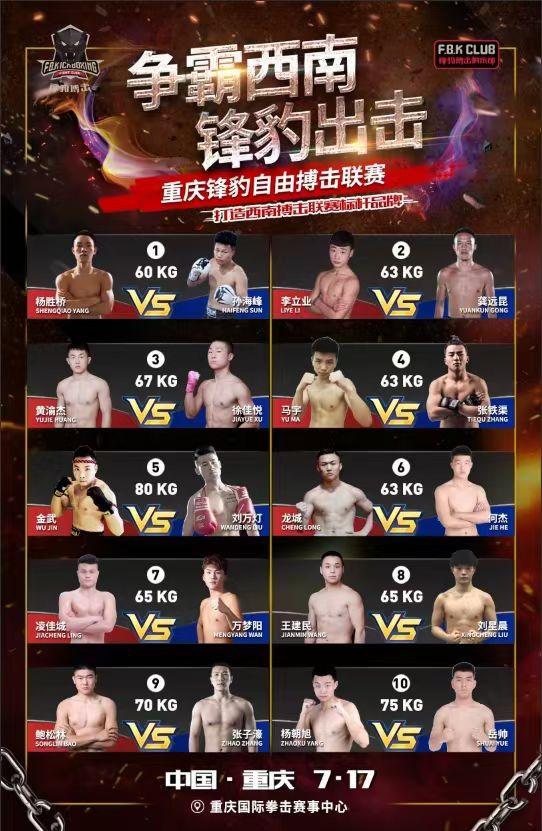 2021重庆锋豹自由搏击联赛