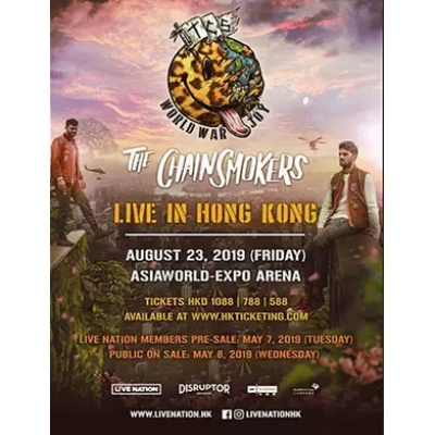 2019The Chainsmokers World War Joy Live in Hong Kong