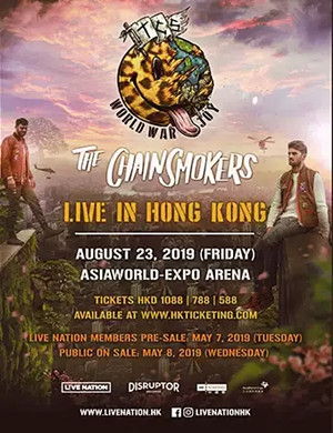 2019THE CHAINSMOKERS香港演唱会